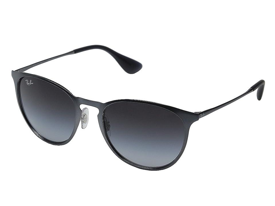 Ray-Ban Erika Metal RB3539 54mm (Metallic Grey Frame/Grey Gradient Lens) Fashion Sunglasses