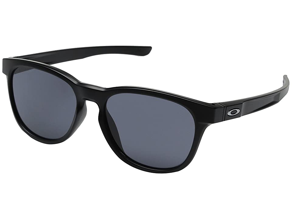 Oakley Stringer (Matte Black/Grey) Plastic Frame Fashion Sunglasses