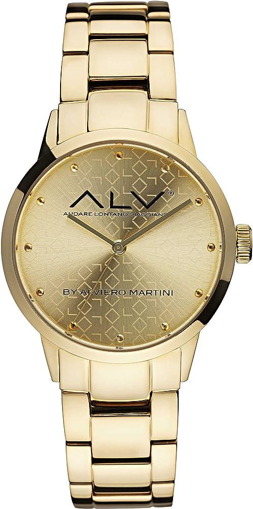 Alviero martini, orologio solo tempo per donna, in acciaio inossidabile lucido ALV0002