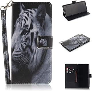 Galaxy Note 9 Case,ZERMU Shockproof Kickstand Feature Animal Pattern Premium PU Leather Magnetic Wallet Purse Case with Credit Card Holder/Slots and Wrist Lanyard Cover for Samsung Galaxy Note 9