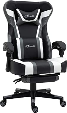 Vinsetto Vedio Gaming Chair Racing Style Office Ergonomic Chair High Back PC Computer Desk Chair Adjustable Height Swivel Rec