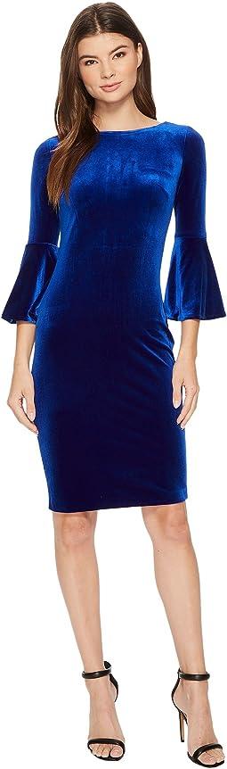 Calvin Klein - Bell Sleeve Velvet Sheath CD7V133E
