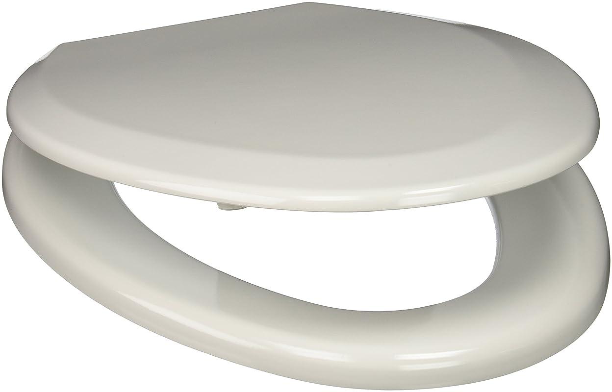 情緒的究極の酔うComfort Seats C3B4E300AMAB Elongated Premium Molded Wood Toilet Seat with Antique Brass Hinges, White by Comfort Seats