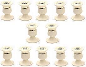 Nixnine Plastic Door Catcher Magnetic Stopper Holder for Home, Office, Door Magnet (7cm x 5cm) Pack of 12,(Ivory)