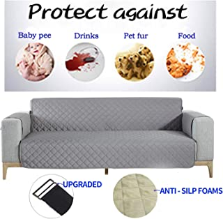 NEKOCAT Sofa Cover,100% Waterproof Nonslip Quilted Furniture Protector Slipcover, Seat Width to 78