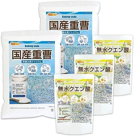 国産重曹 5kg×2袋 + クエン酸 950g×3袋 食品添加物(食用)[02] NICHIGA(ニチガ)