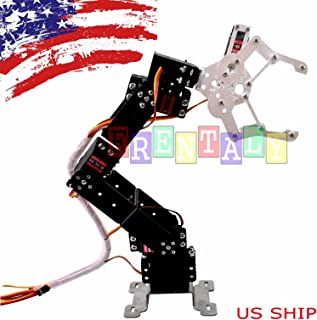 Frentaly Programmable Aluminium Robot Arm Mechanical Robot Clamp Claw 20kg Servo Gripper DIY Arduino Mounted Assembly