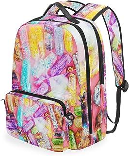 Susino Mochila Escolar para niñas y niños, Bolsa de Viaje Ajustable para Viajes, Senderismo, Camping, Ciclismo, Informal, para Adultos y niños, Colorful Pill