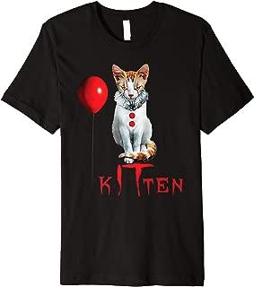 Clown Cat Kitten Halloween Premium T-Shirt