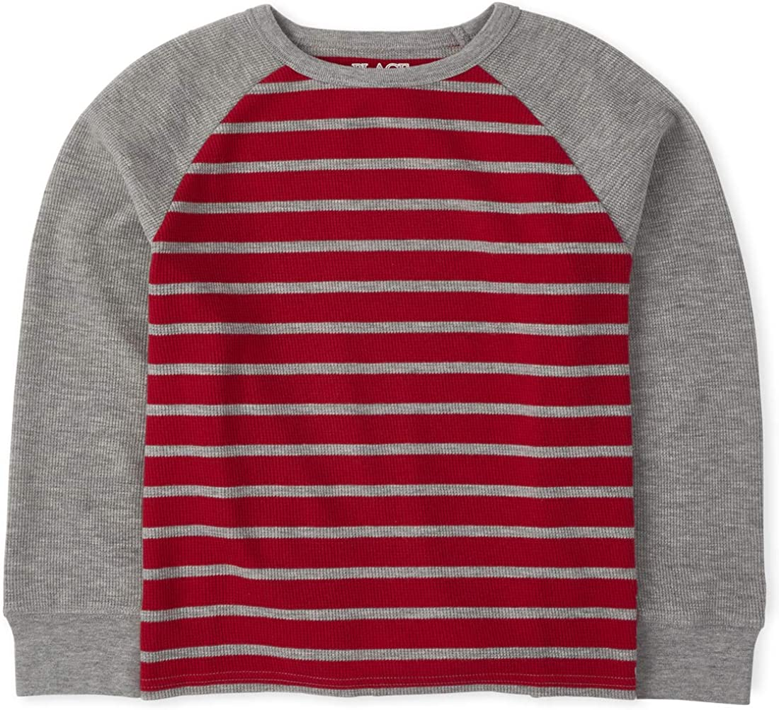The Children's Place Boys' Striped Thermal Top