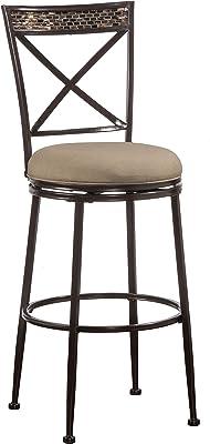 Boraam Augusta Counter Height Swivel Stool 24 Inch Black Furniture Decor
