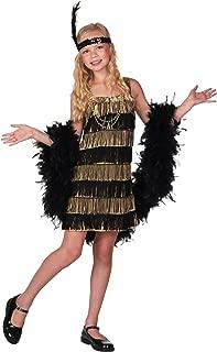 Child Gold and Black Fringe Flapper Costume