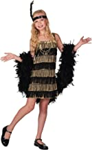 Fun Costumes Girls Gold and Black Flapper Dress 1920s Flapper Dress