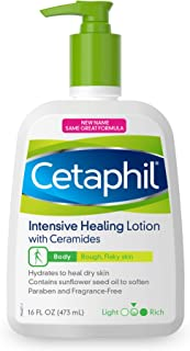 Cetaphil Intensive Healing Lotion with Ceramides | 16 fl oz | Body Moisturizer for Dry, Rough, Flaky Skin | Dermatologist ...