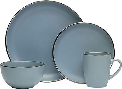 Pfaltzgraff Hadlee Blue 16-Piece Dinnerware Set