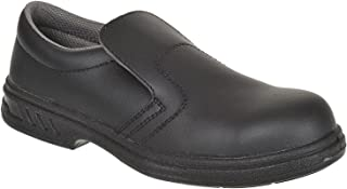 Portwest Fw81–Slip-On Chaussure de sécurité S2, Couleur Noir, taille 34