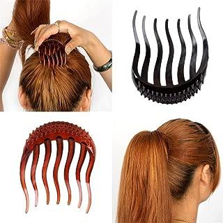 Aile Rabbit 3 Pcs Hair Clip Bumpits Bouffant Ponytail Hair Comb Bun Maker (Random color)