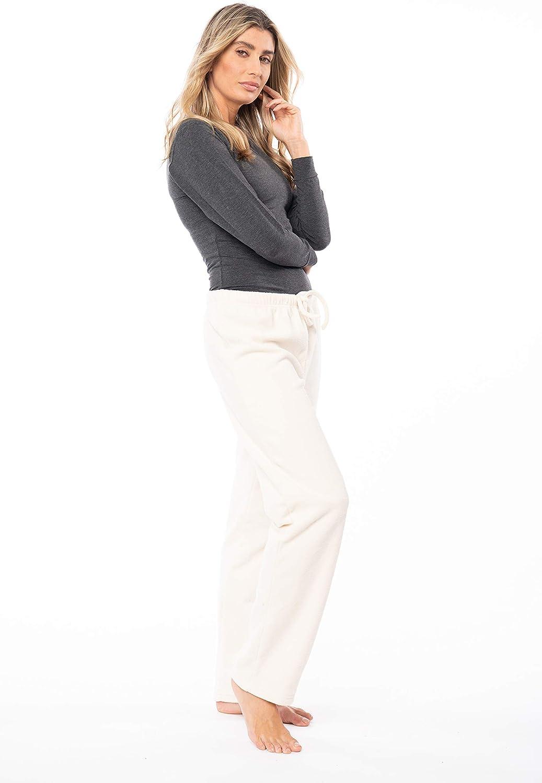 Sexy Basics Women's Super Cozy Fleece Pajama Bottom Lounge Pant/Warm Soft & Cozy Polar Fleece Lounge & Sleep PJ Pant