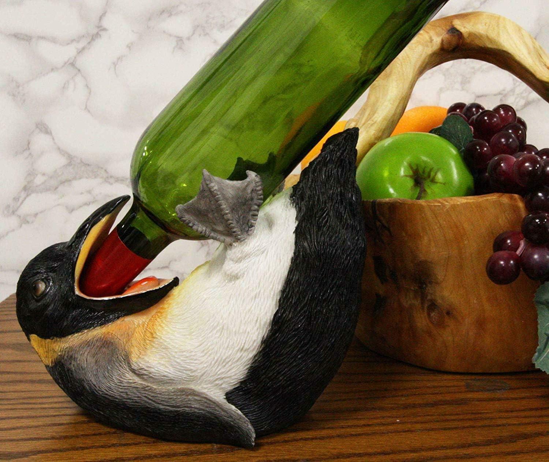 Challenge the lowest price of Japan Acrobatic Drunken Tuxedo Emperor Penguin Bottle Max 65% OFF Holder Wine 8.5