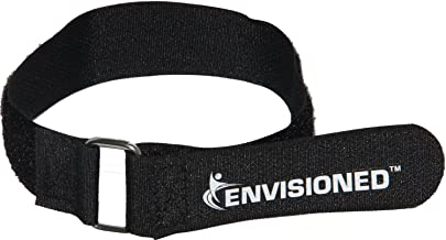 Premium Cinch Straps with Stainless Steel Metal Ring (Buckle), Reusable Durable Hook and Loop, Multipurpose Securing Straps 1