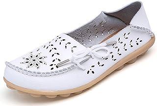 ZZXIAN Slipper Rot Damen Keilsandaletten flach Sandalen Damen Sommer Sandaletten Leder Damen Casual Flat Retro Mules Comfort Sandals Shoes