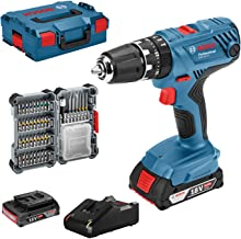 Bosch Professional 18V System accuschroefklopboormachine GSB 18V-21 (incl. 2x 2,0 Ah accu, 40-delige accessoireset, in L-B...