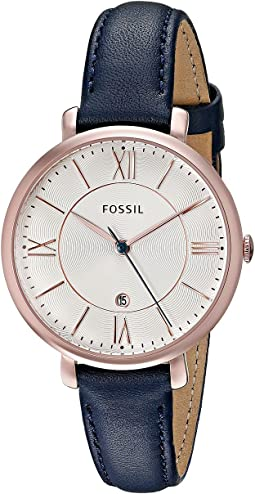 ES3843 Rose Gold Navy Leather