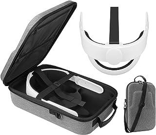 Esimen All-in-one Elite Strap for Oculus Quest 2 Travel Case Accessories Set ,Comfort Foam Pad Strap, Design Balance Weigh...