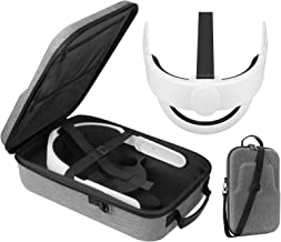 Esimen All-in-one Elite Strap for Oculus Quest 2 Travel Case Accessories Set ,Comfort Foam Pad Strap, Design Balance Weigh...