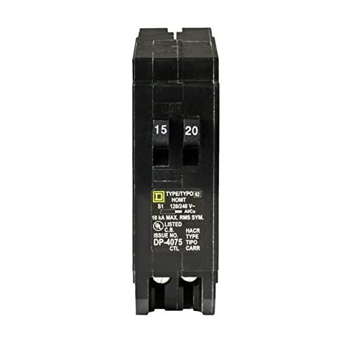 Federal Pacific 1-20 and 2-15 Amp STAB LOK 1 POLE 120//240V Thin Circuit Breakers