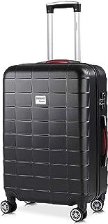 Monzana - Valise rigide Exopack Noir Taille L 4 Roues 360° Poignée télescopique Serrure TSA Plastique ABS