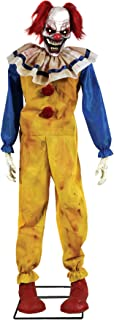 Scary Twitching Evil Clown Animated Horror Party Decoration Halloween Prop