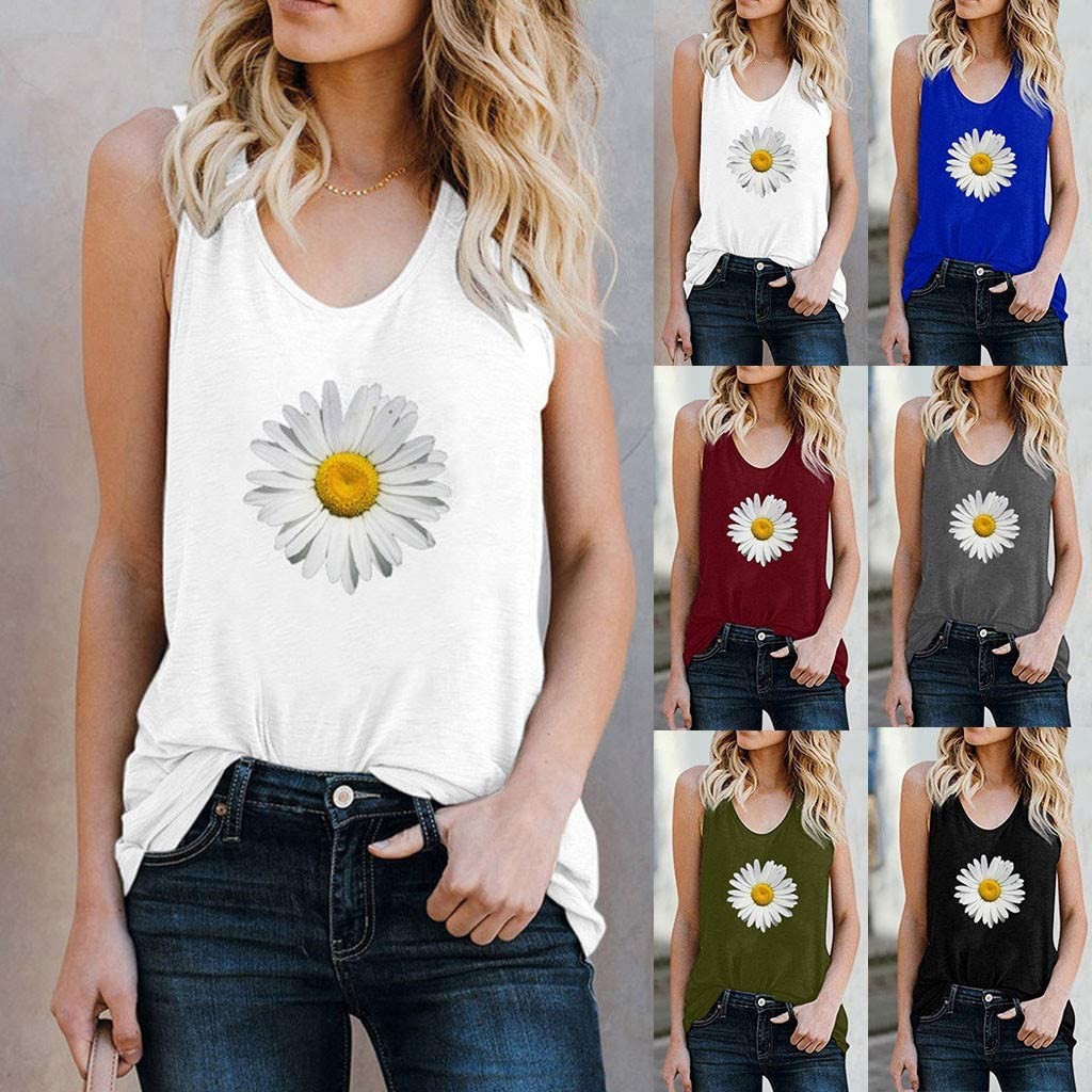 Gerichy Tank Tops for Women Casual, Womens Fashion Summer Loose Fit Sleeveless Tank Tees Shirts Blouses Vest Tops