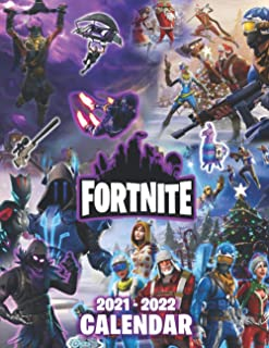 Fortnite: 2021 – 2022 Games Calendar – 18 months – 8.5 x 11 Inch High Quality Images