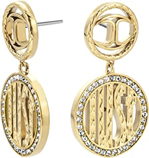 JUST CAVALLI Earrings, Logomania, Yellow gold Color-JCER00750200