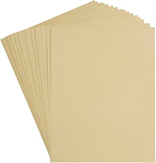 Kraft Cardstock - 50-Pack Letter Sized Heavyweight Stationery Paper, Printable 215GSM 80lb Cover Cardstock, Perfect for Business Cards, Menus, Invitations, Arts, Crafts, Office Use, 8.5 x 11 Inches