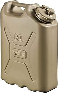 Scepter Lightweight BPA 5 Gallon 20 Liter Portable Water Storage Container, Sand (2 Pack)