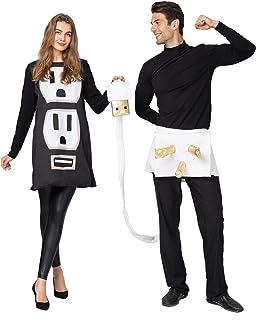 Spooktacular Creations USB/Light Plug and Socket Couple Set Halloween Costume for Adult