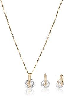 MESTIGE Women Crystal Golden Siena Set with Swarovski Crystals