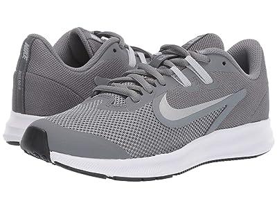 Nike Kids Downshifter 9 (Big Kid) (Cool Grey/Metallic Silver/Wolf Grey/Black) Boys Shoes