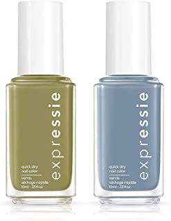 Sponsored Ad - Essie expressie Quick Dry Nail Polish, Fall Color Set - Olive Green, Previous Cargo-go! 0.33 oz + Slate Blu...