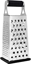 K BASIX Cheese Grater & Shredder - Stainless Steel - 4 Sided Box Grater - Large Grating Surface with Razor Sharp Blades - Perfect to Slice, Grate, Shred & Zest Fruits, Vegetables, Cheeses & More!