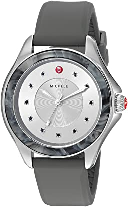 Michele - The Cape Stainless Steel Grey Silicone Strap