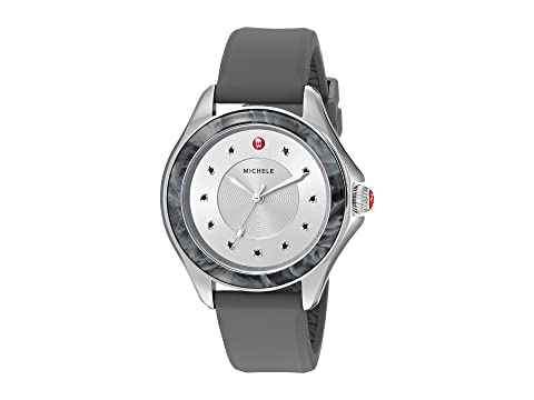 Michele The Cape Stainless Steel Grey Silicone Strap