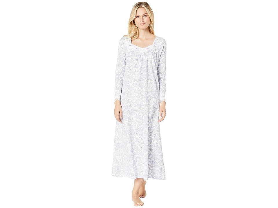 Carole Hochman Soft Jersey Long Gown (Lilac Vine Floral) Women