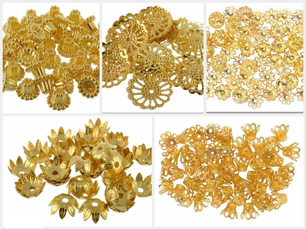 GOELX Fancy Max 48% OFF Most Popular Some reservation Gold Bead Jewellery for Cap Designs Mak