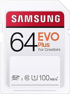 SAMSUNG EVO Plus SDXC Full Size SD Card 64GB (MB SC64H), MB-SC64H/AM