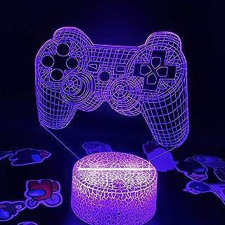 Lampe Illusion 3D Led Veilleuse Playstation Accessoires Contrôleur Ps4 Manette De Jeu Lampe À Lave Cadeau Créatif Salle De...