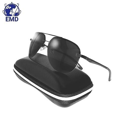 Lunettes de soleil Aviateur Design - Polarisées - Effet miroir - UV 400 -  Très légères 4dc4a4412a15