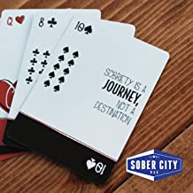 Sober Cards – #1 Sobriety Gift for Sober Anniversary Playing Cards with Inspirational Sobriety Quotes and AA Slogans